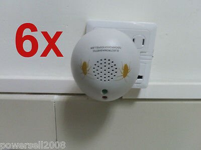 6 X 2012 New Model Garden And Home Electronic Ultrasonic Cockroach Repeller