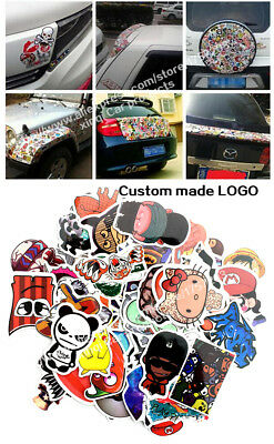 100Pieces Stickers Skateboard Sticker Graffiti Laptop Luggage Car Decals mix lot
