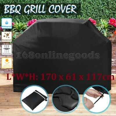 Large Outdoor 4 Burner BBQ Barbeque Grill Cover Durable Waterproof UV Protector