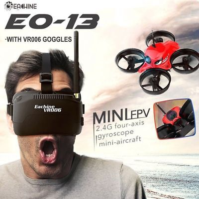 Eachine E013 Micro FPV Racing Quadcopter 1000TVL 40CH Camera VR006 Goggles uk