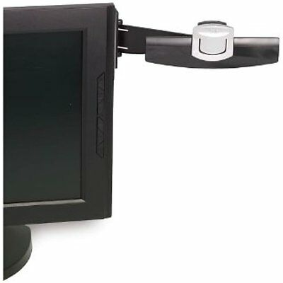 Computer Monitor Copyholders Document Clip Paper Holder 30 Sheet Capacity Black
