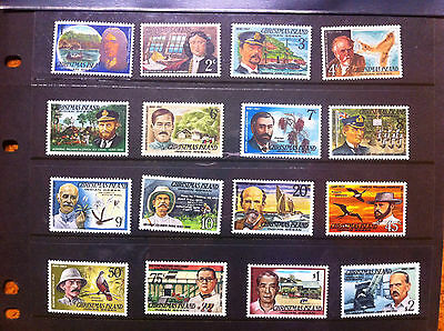 CHRISTMAS ISLAND 1977 FAMOUS VISITORS Explorers 16 full set MNH