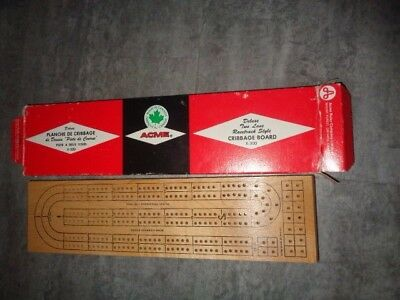 Acme Cribbage Board - Made in Canada - 2 Player - Ex.Condition