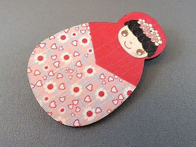 Brooch - Matryoshka Doll Pinky Love