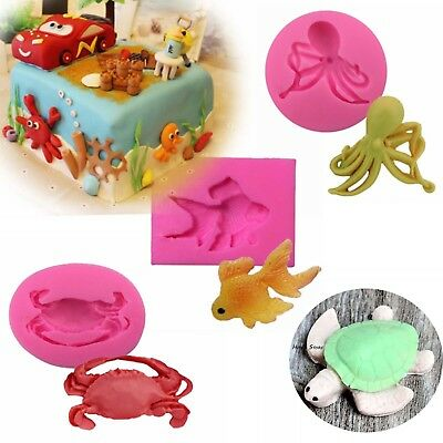 3D animal Soap Mould Candle Melt Hand Craft Silicone Cake Fondant Chocolate Mold