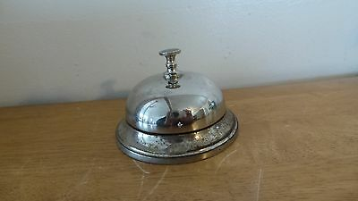 Vintage 1887 Spinner Cast Iron Desk Bell > Antique Hotel Bells 9413