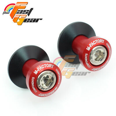 CNC Billet Red Racing Swingarm Spools Fit Yamaha YZF-R6 S 2003-2008