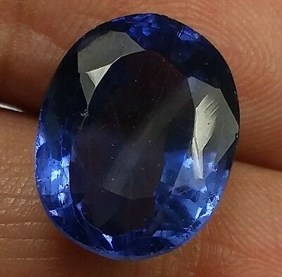 10.95 CT Lab Created Blue Sapphire AAA+Nice Quality Oval Shaped Awesome Gem 825