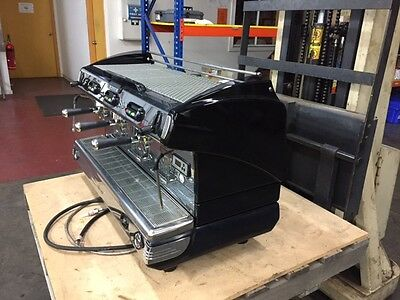 A Franke 3 Group commercial coffee machine