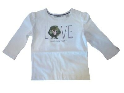 Mexx Long Sleeve Baby Shirt Owl Paper for Girls sz. 62, 68