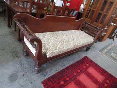 D38039 Vintage Cedar Miners Couch Lounge Sofa Turned Legs