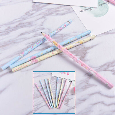 4X Cute HB Kids Wooden Kids Writing Standard Pencils School Office Supplies SN