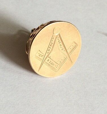 Masonic Gold Watch Fob With Square And Compass Engraving