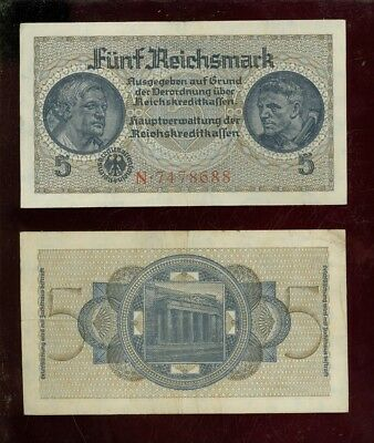 Banknote 5 Reichsmark (1939) Ro.553a (III)