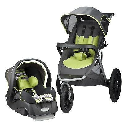 Evenflo Victory Jogging Travel System Embrace Infant Car Seat Tucson