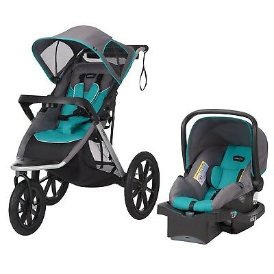 Evenflo Victory Plus Jogger Travel System Black/Teal