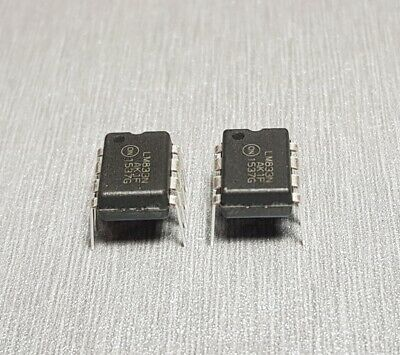 LM833N IC OPAMP AUDIO 15MHZ 8-DIP Pack of 2