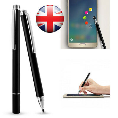 Thin Black Fine Point Stylus Pen for Smartphones & Tablets Capacitive Touch UK