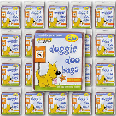 Snappies Doggie Doo Bags (5 x 20 bags)