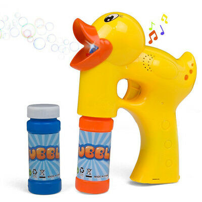 Bubbles Blower Machine Blaster Duck Shape with Music Sound Bubble Solution Eager