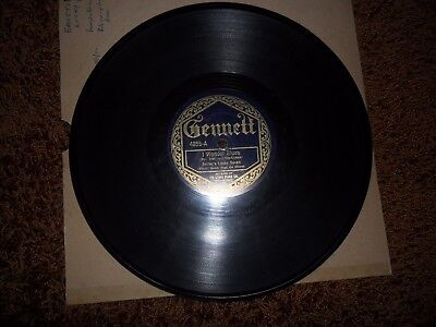 3 Gennett Gramophone Phonograph 78rpm records in hard covers