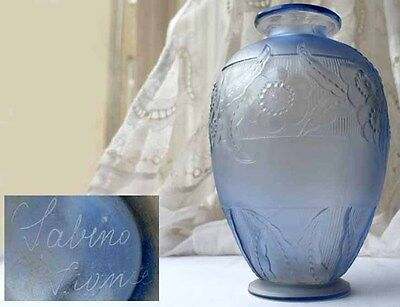 Glass Vase/ Flower Vase Art Deco Marius Sabino France 1920s Years F525