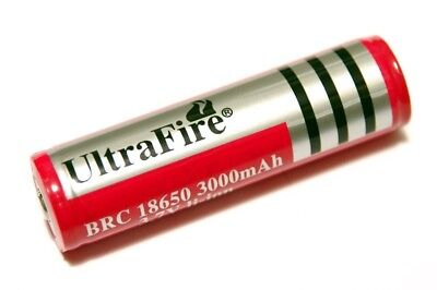 UltraFire Batteria Pila Li-ion 18650 Ricaricabile 3,7 VOLT 5800 mAh Red Edition
