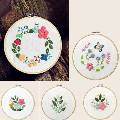 Modern Hand Embroidery Kit Embroidery Sampler Kit for Beginners Adults Crafts