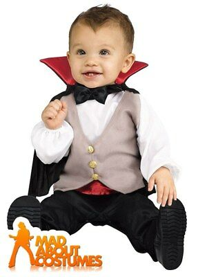 Toddler Lil Dracula Costume Vampire Babies Halloween Horror Fancy Dress Outfit