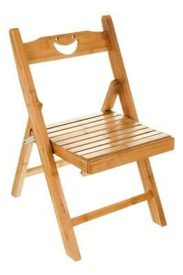 Folding Bamboo Wood Wooden Stool Kid Picnic Fishing Seat Chair Kitchen Bedroom