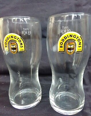 Boddingtons Pint Glasses X 2 New
