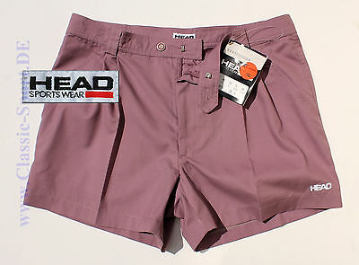 T-341) orig. 90er HEAD / Portugal Tennis-Shorts Cotton He:58 NEU !