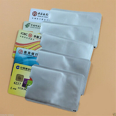 20Pcs Card Blocking Contactless Debit Credit Card Protector Sleeve Wallets New