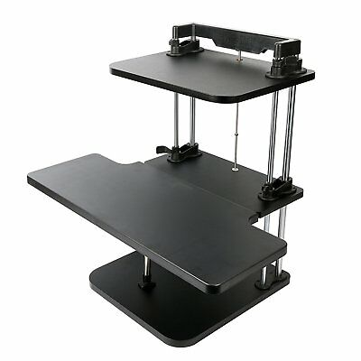 Height adjustable Dual Level Sit/Stand Desk Riser by Stand Steady - Two-Level
