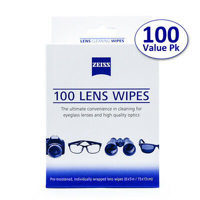 400 Zeiss Pre-Moistened LCD Screen Glasses Lens Camera Clean Cloth Wipes Clearer