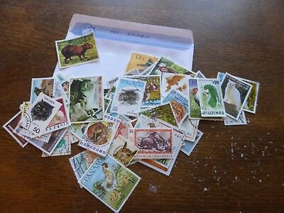 100 TIMBRES d'animaux