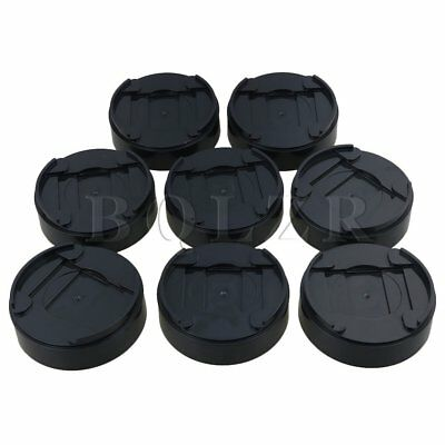 BQLZR 1 Inch Black Bed Risers for Lift Bed Table Chair Sofa Pack of 8