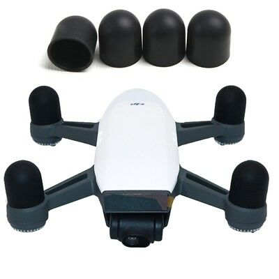 HI-TECH Black 4 PCS Silicone Motor Guard Protective Covers for DJI Spark