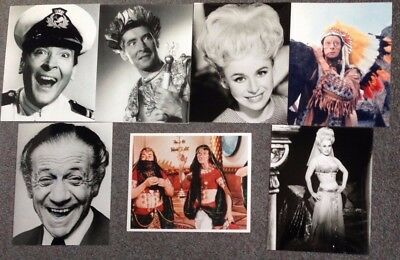 """LOT OF 7 10""""x8"""" GLOSSY PHOTO REPRINTS FEATURING STARS OF CARRY ON"""
