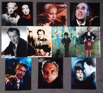 """LOT OF 10 10""""x8"""" GLOSSY PHOTO REPRINTS FOR HORROR FILMS"""