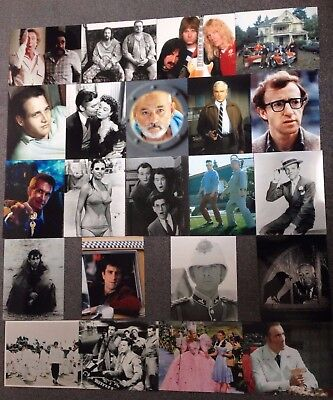 """LOT OF 21 10""""x8"""" GLOSSY PHOTO REPRINTS FEATURING FAMOUS FILMS & FILM STARS"""
