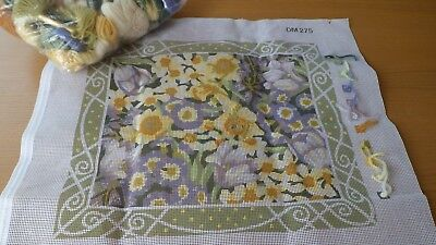 Primavera Tapestry Kit with Anchor Wools 'Spring Flowers by Julia A'Court