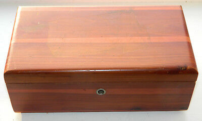 Vintage Lane Miniature Cedar Chest E Tudor Williiams Furniture Utica NY No Key
