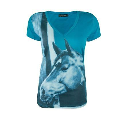*NEW*Womens Avonleah Thomas Cook Equestrian Shirt in Turquoise in Turquoise