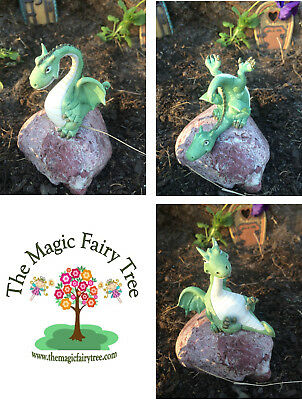 Dragon figurines for fairy or gnome gardens.  Set of 3 or sold individually.