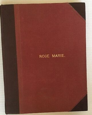 1936. ROSE MARIE Leather Bound Musical Score.