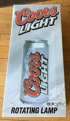 """Coors Light Rotating Lighted Lamp / 11"""" Tall / New in Box / Beer"""