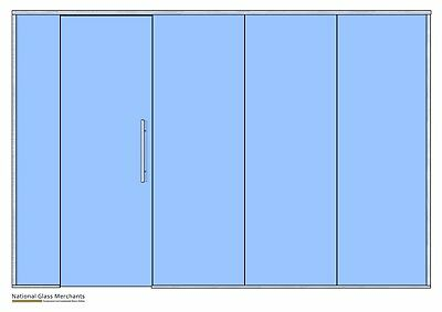 GLASS PARTITION- 4090mm-4140mm  Wide- NEW - EVERYTHING INCLUDED - CHEAP - TRADE