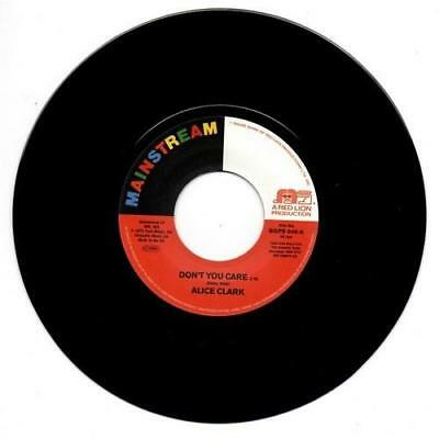 ALICE CLARK Don't You Care / Never Did I Stop Loving You NEW SOUL JAZZ 45 MODERN