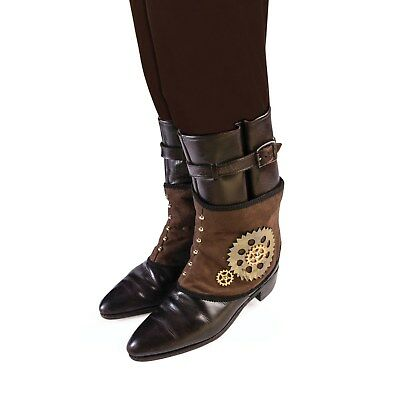 Adult Halloween Steampunk Spats Victorian Fancy Dress Accessory